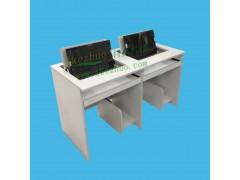 翻转电脑桌 双人翻板式电脑桌