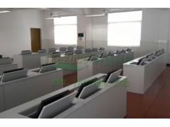 液晶屏翻转电脑桌 学校培训电脑桌