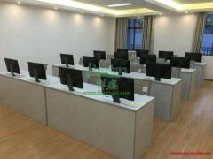 液晶屏升降电脑桌 双人培训电脑桌