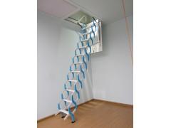 伸缩楼梯 小巧方便 伸缩自如 天津专业定做安装