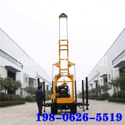 橡胶钢丝式履带200型水井钻机工程打井大型液压钻井机一件起批