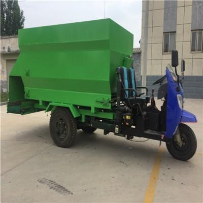 移动式喂牛草车 液压刮板式新型撒料车