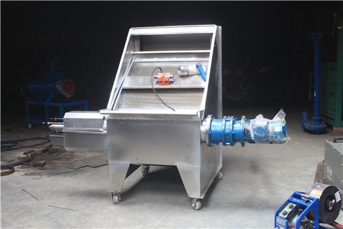 不锈钢斜筛式固液干湿分离机 猪粪便脱水机