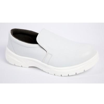 无尘白色防砸洁净安全鞋 带刚头白色洁净鞋 防砸防滑车间安全鞋