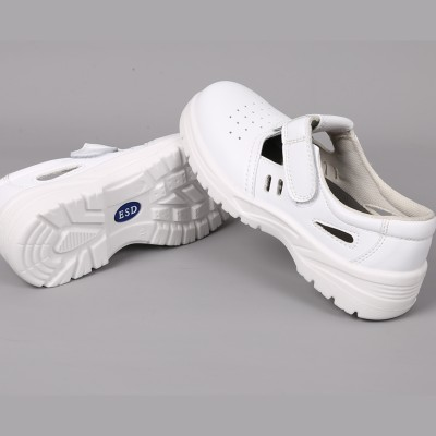 白色防静电劳保鞋钢头防砸防静电安全鞋