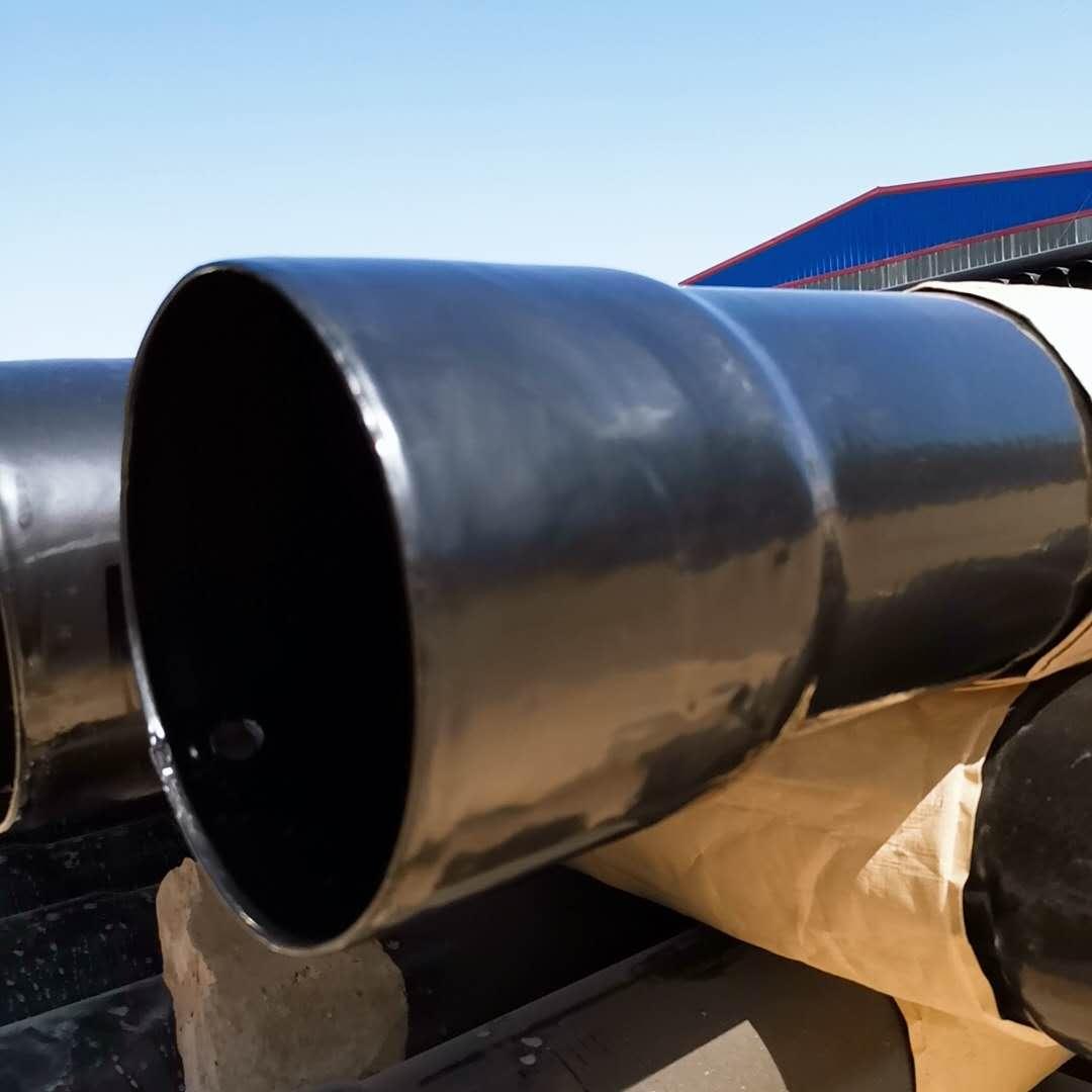 山东泰安黑色热浸塑钢管厂家北京轩驰牌150*4价格