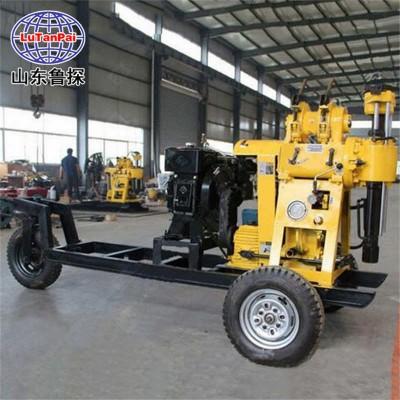 鲁探XYX-130型轮式岩芯钻机地质勘探钻机拖挂式钻机