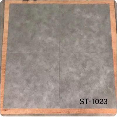 佛山工程塑料地板 水泥纹深浅灰色胶地板仿大理石PVC石塑地板