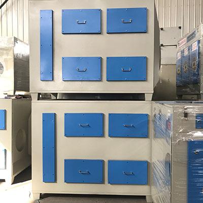 车间二级处理活性炭吸附箱装置 工业异味净化环保设备
