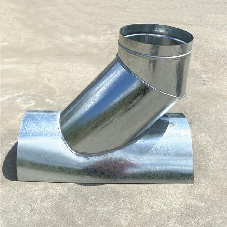 中山镀锌风管生产厂家螺旋风管马鞍