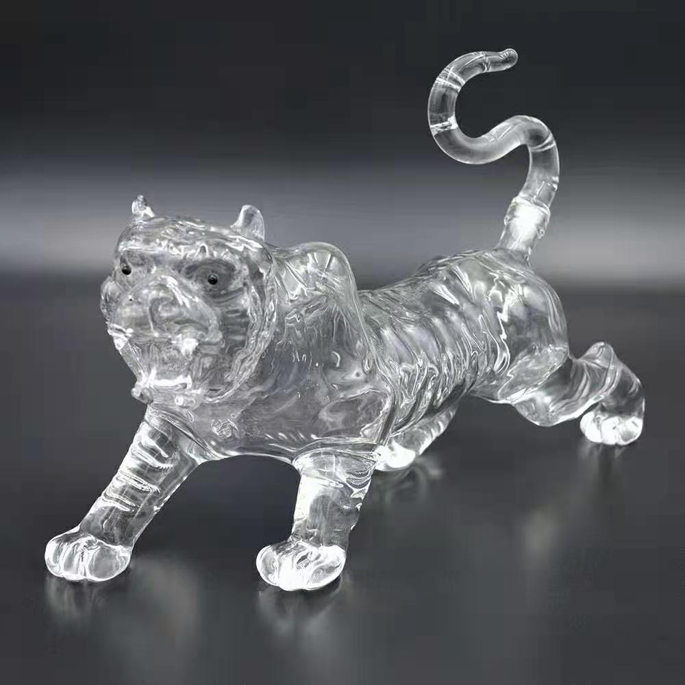 老虎造型玻璃酒瓶虎骨酒工艺酒瓶创意虎王酒威士忌玻璃瓶xo酒瓶