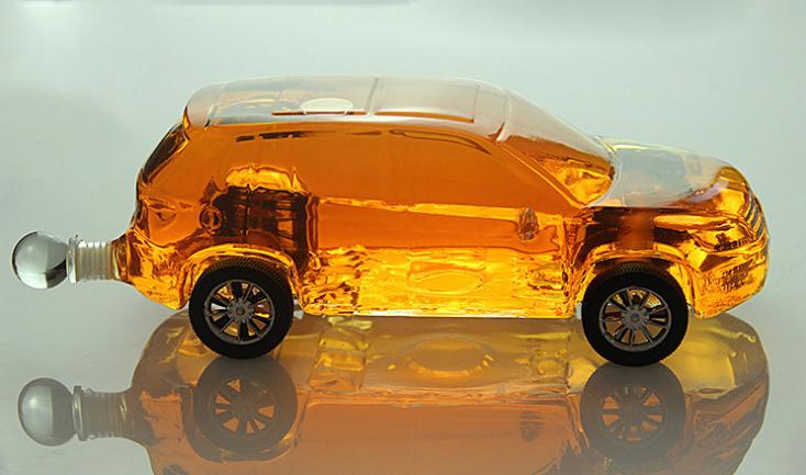 汽车造型玻璃酒瓶xo酒瓶威士忌朗姆酒包装瓶个性白酒瓶