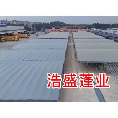 推拉棚雨蓬伸缩式雨棚以遮雨棚推拉蓬雨篷工地伸缩帐篷棚子c