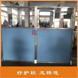黄石机械手隔离护栏 焊接工段围栏挡弧光 工业铝型材围栏 龙桥