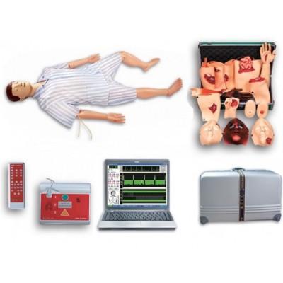 高级综合急救护理模拟人(急救、护理、创伤、除颤四合一)