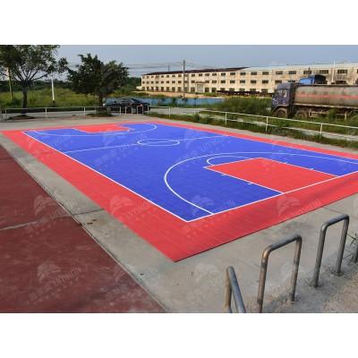厂家直销 易安装/使用寿命长运动地板 篮球场弹性拼装地板