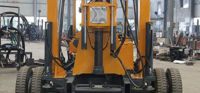 轮式液压岩芯钻机 利亨600m工民水井深孔钻探机